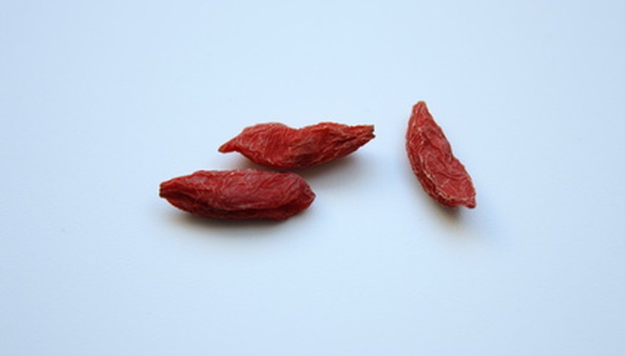 Goji berries are full of antioxidants.