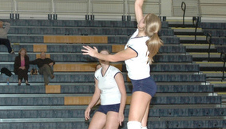 Volleyball is a popular sport for many girls.