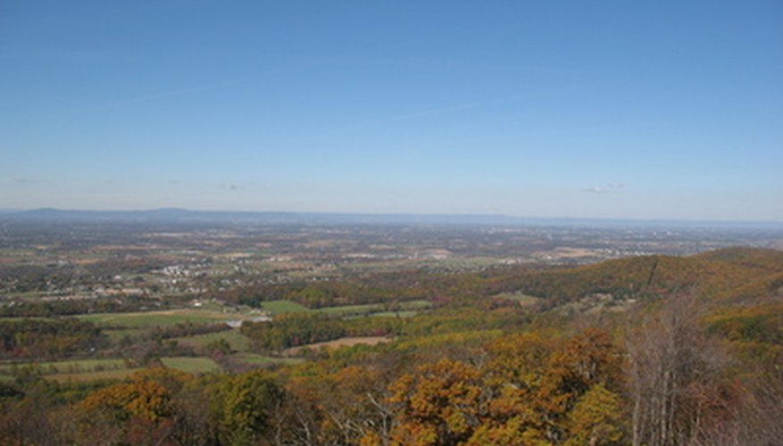 Western Maryland features a mountainous region with thick woodlands.