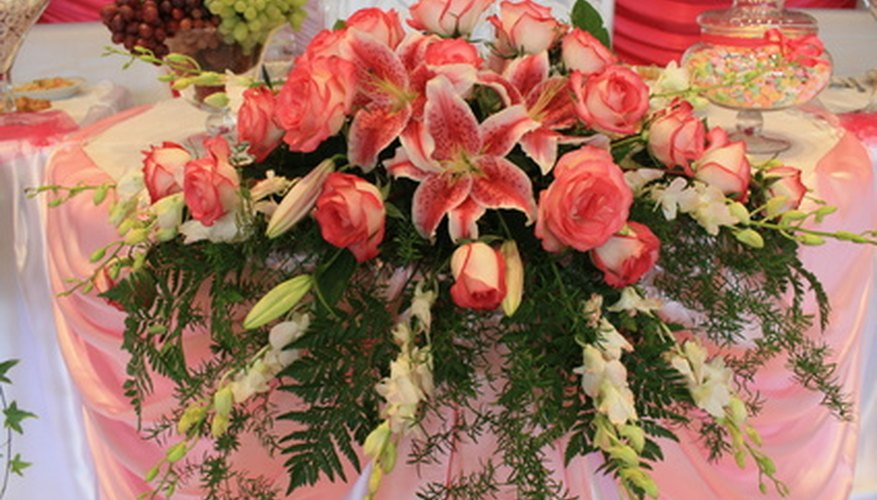 Ferns add a romantic feel to flower bouquets.