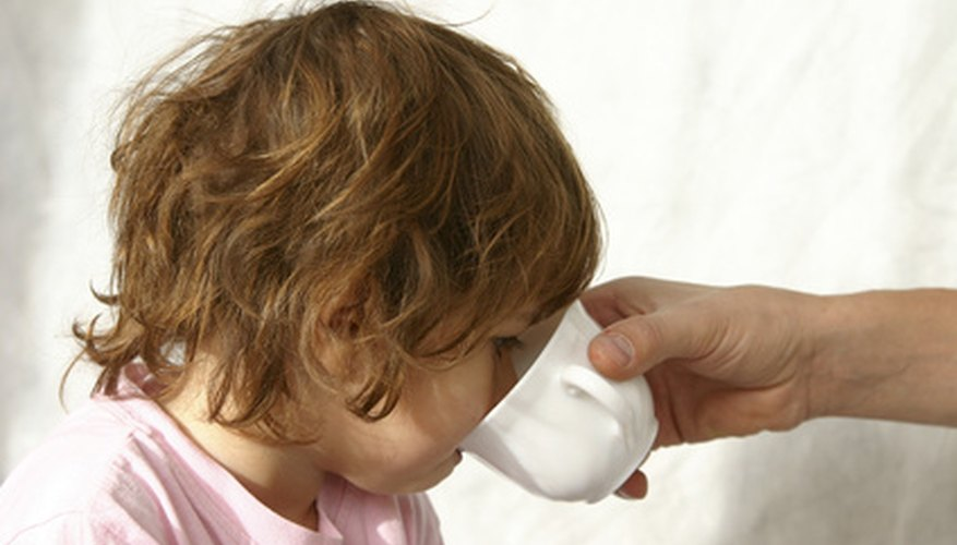 Treating vomiting in babies.