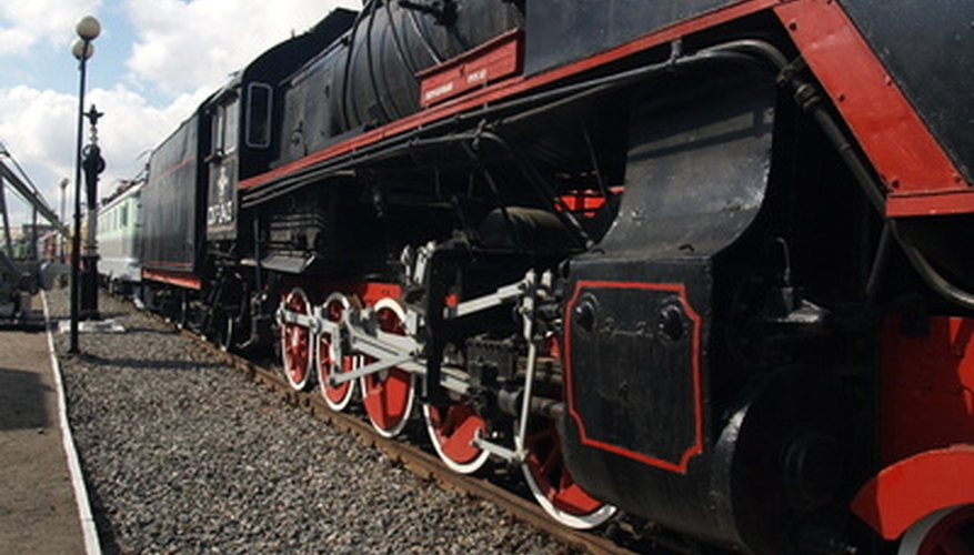 Los trenes pueden ser accionados por turbinas a vapor.