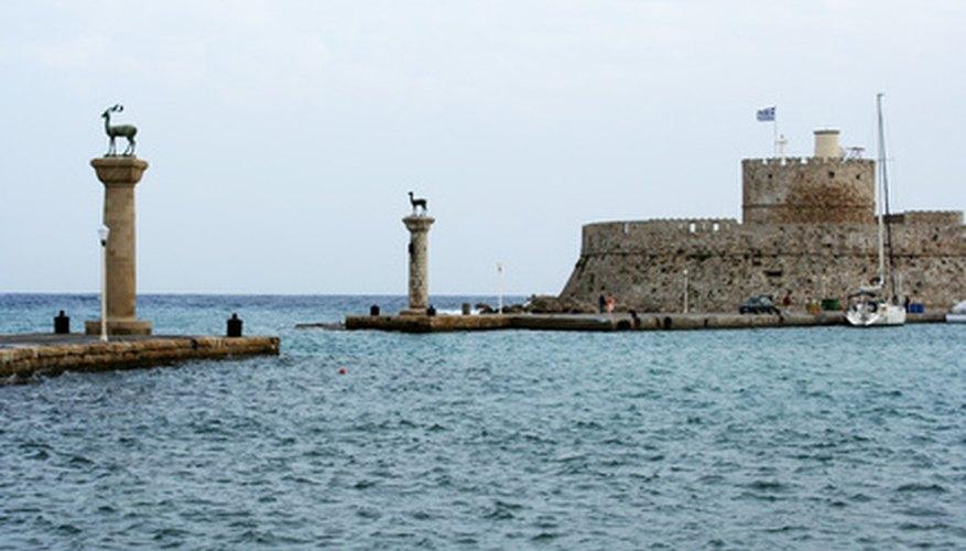 La bahía de Rodas como aparece hoy en día.