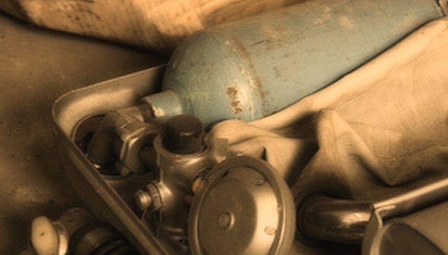 old oxygen cylinder