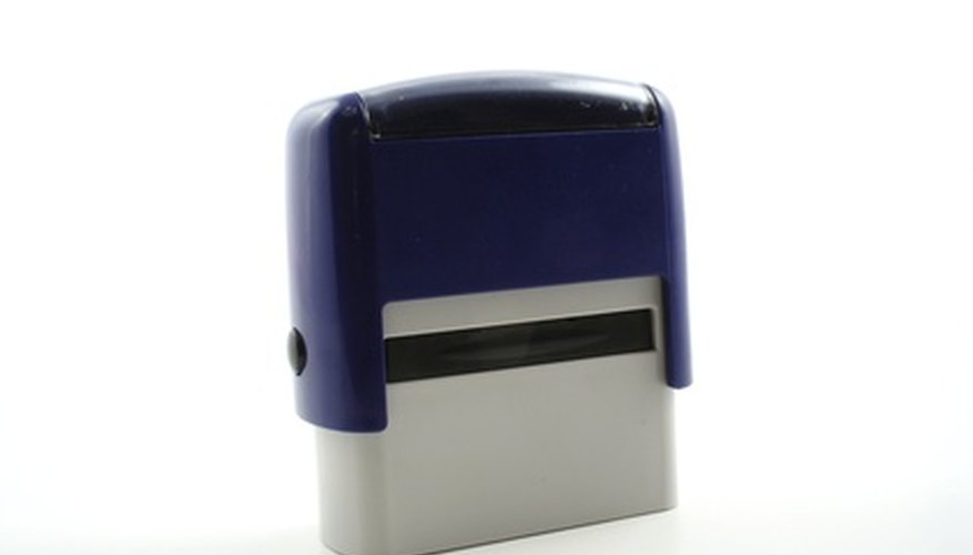 A self-inking stamp reduces time and expense.