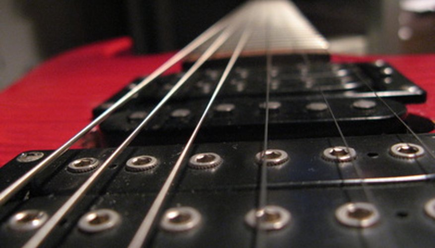 Strings on a Yamaha guitar