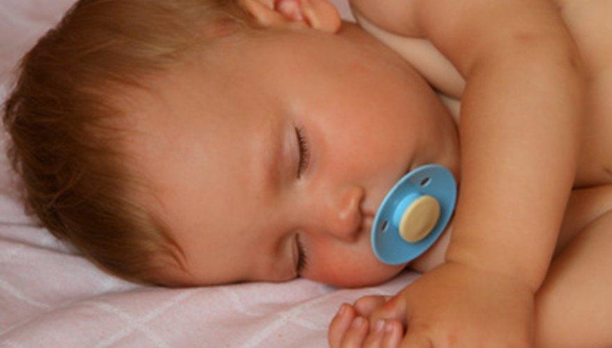 A pacifier or teether may help a teething baby fall asleep.