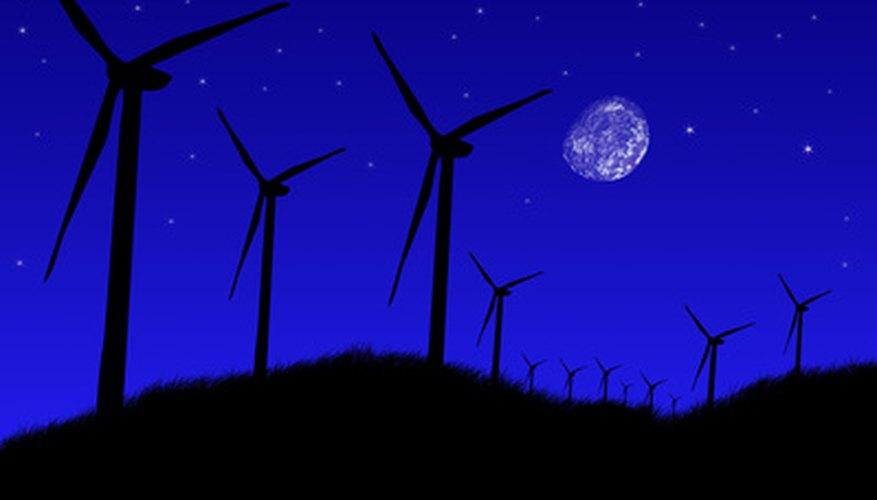 Los aerogeneradores en grupos son llamados parques eólicos.