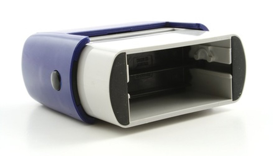 how to change the ink pad on a self inking stamp bizfluent