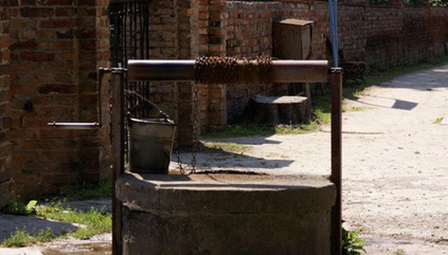 La ubicación de un pozo proporciona evidencia de agua subterránea encontrada.