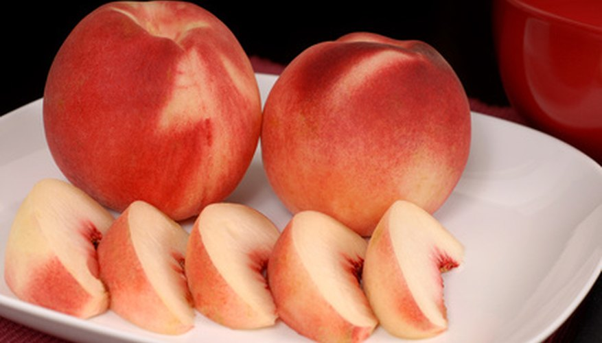 White-fleshed peaches.