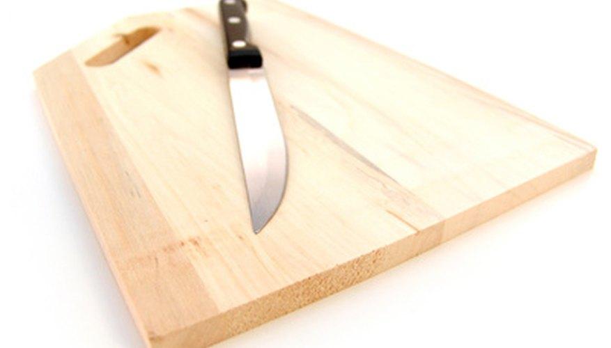 Una buena tabla para cortar de madera durará mucho tiempo.