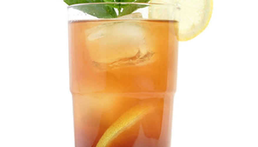 Flavor iced tea with lemon verbena