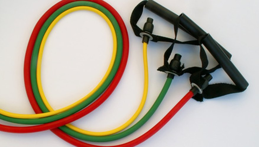Resistance bands can improve muscle tone.