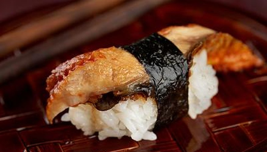 Sushi is a popular menu item at Japanese restaurants