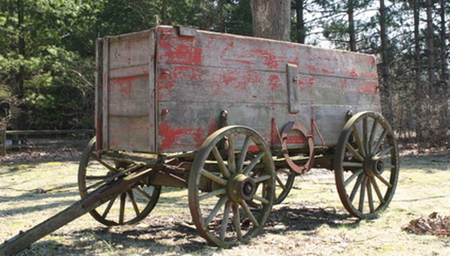 A wagon is a 4-wheeled cart.