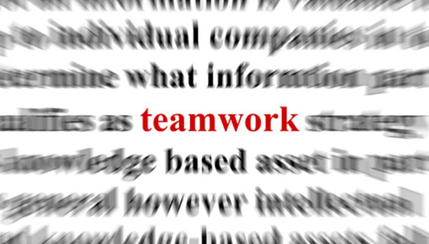 Teamwork must by nurtured by the team leaders.