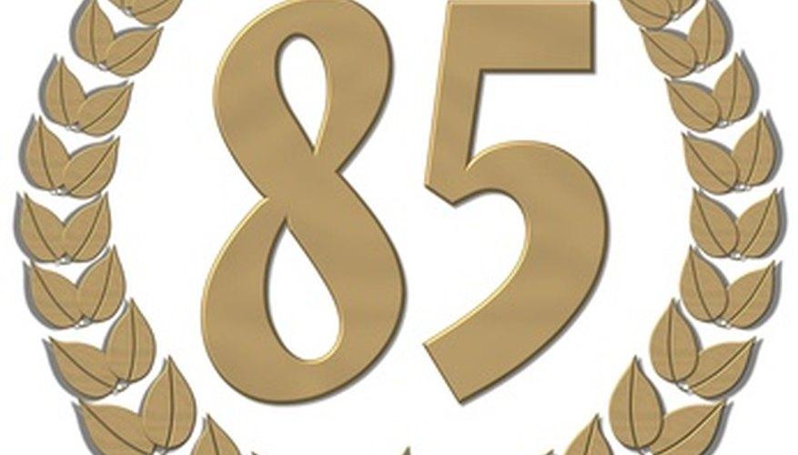 Celebrar el 85 cumpleaños.