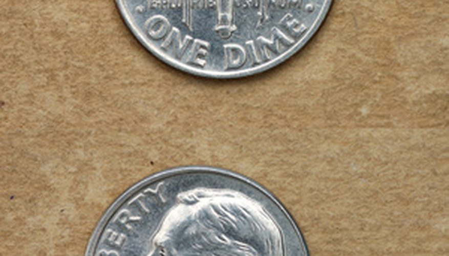 Serie de moneda de diez centavos Mercurio.