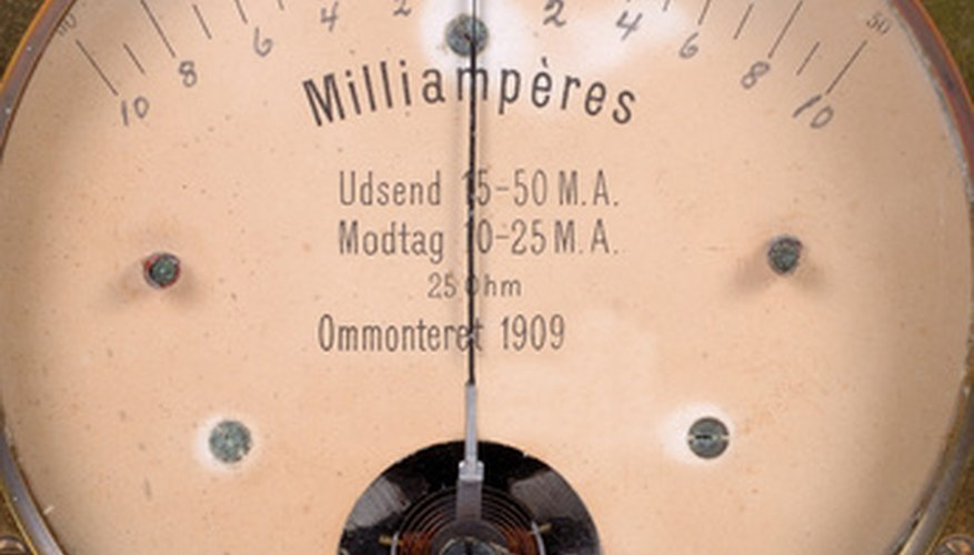 An ammeter scale