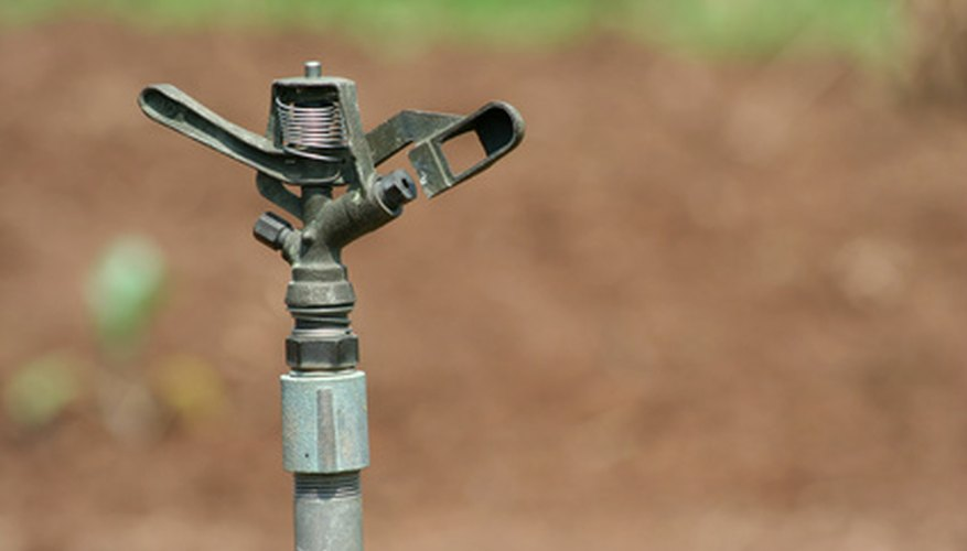 Sprinklers attached to a well require a pump to bring water to the system.