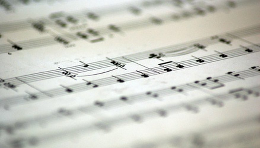 Sheet music and music notation is needed when writing songs.