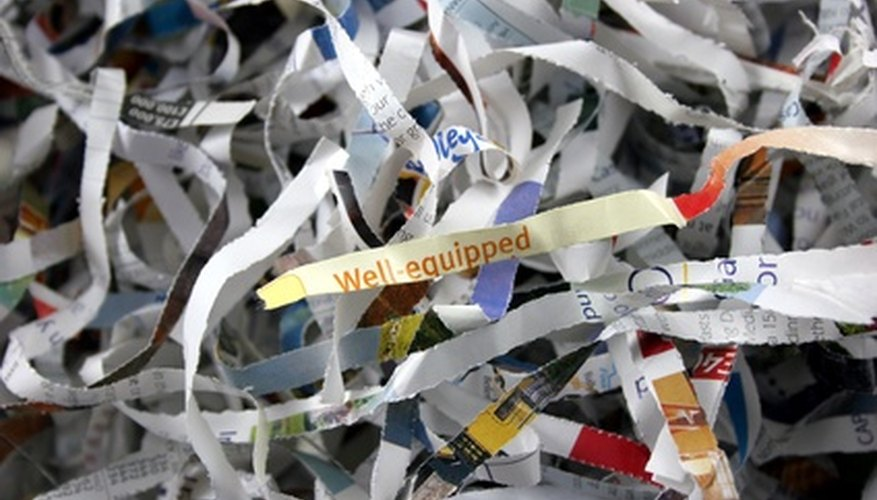Protect your identity with a working paper shredder.