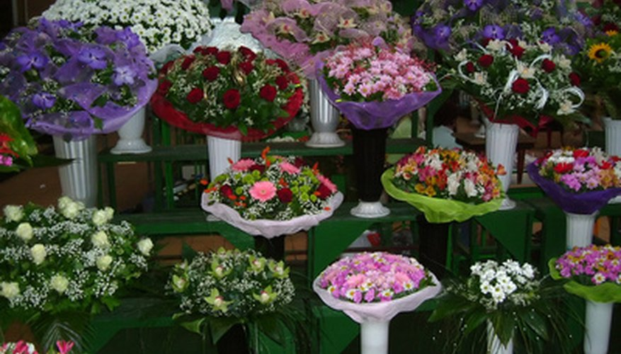 Design the flower store to have eye-catching displays.