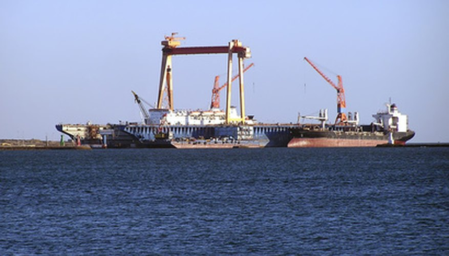 An oil tanker off the coast of Egypt