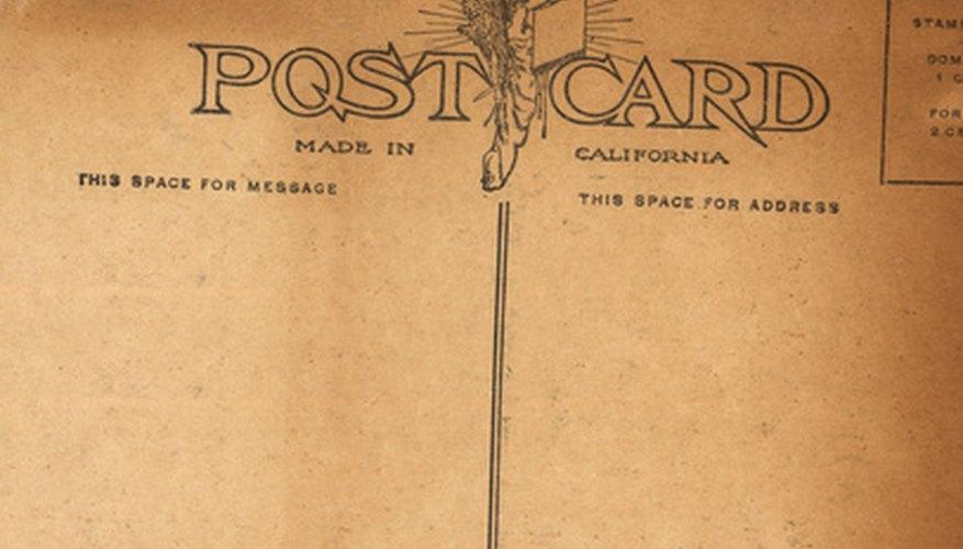 Las postales son los documentos más fáciles de enviar de forma internacional.