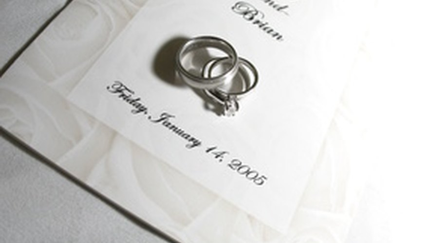 Wedding programs can make a nice keepsake for you and your guests.