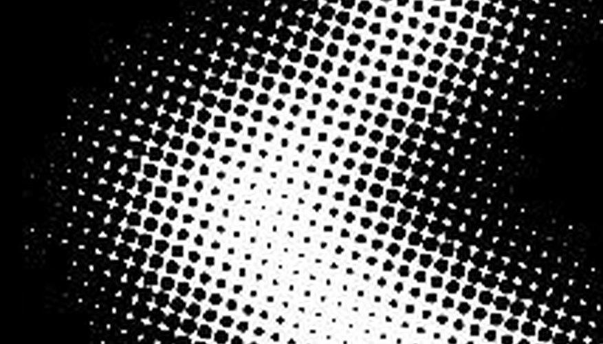 Los puntos de diferentes tamaños o a diferentes distancias pueden crear la ilusión de sombreado. Ésto se conoce como medios tonos.
