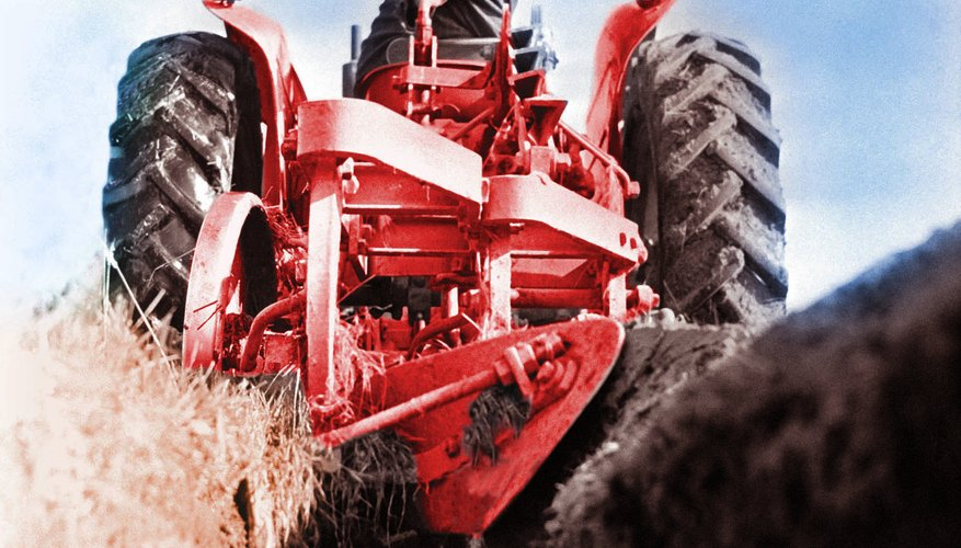 Add additional capability to a tractor with a tractor plow.