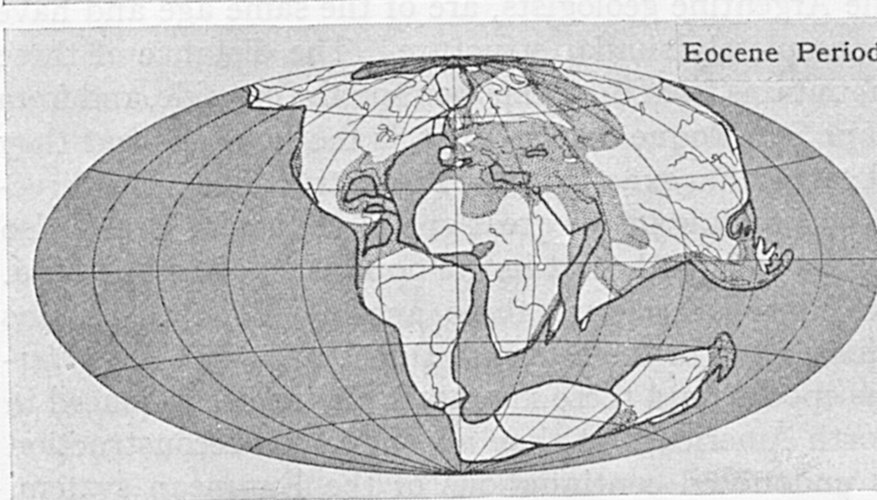 The theory of plate tectonics describes how the continents have changed position over geological timescales.