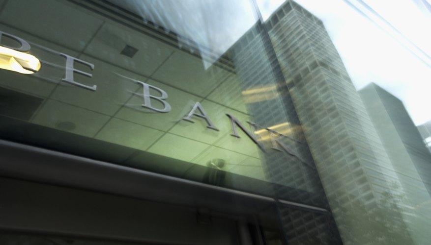 Bank facade in New York City