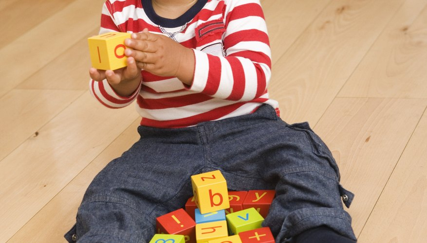 Blocks with numbers give your toddler a chance to practice recognition.