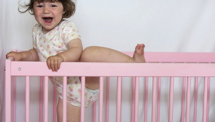 If your child is climbing out of the crib, you will want to transition to a toddler bed