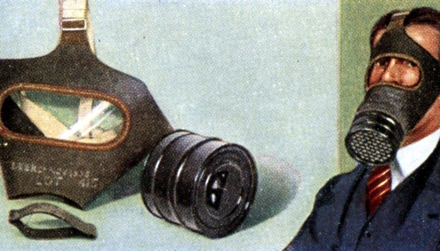 La distintiva máscara de gas puede ser una actividad educativa de artes y artesanías.