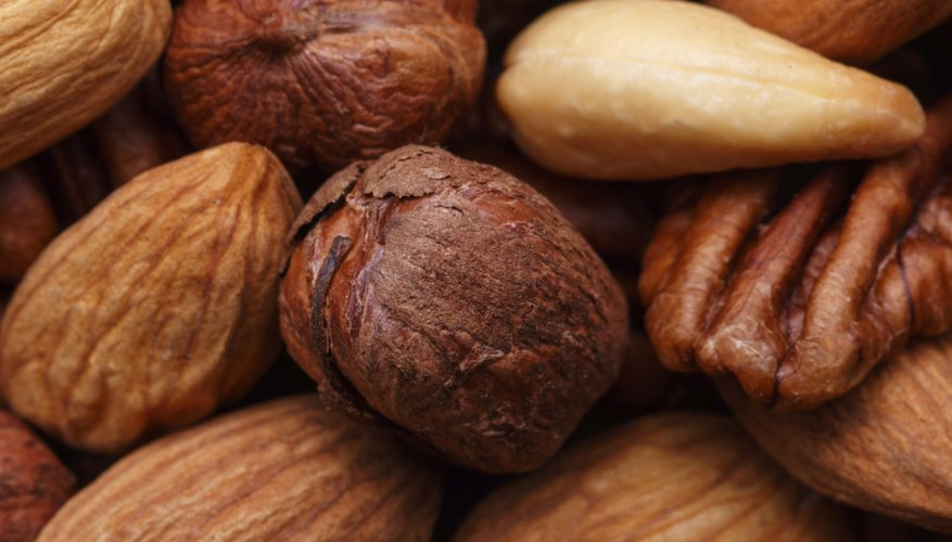 Discard nuts that have holes in them, or appear shriveled or discolored.