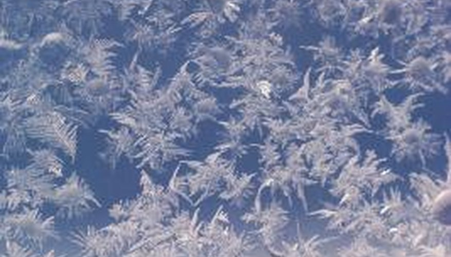 Snowflakes are crystals made from water and cold air.