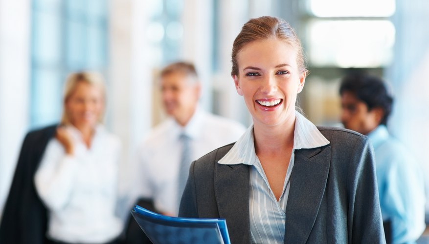 woman smiling at work