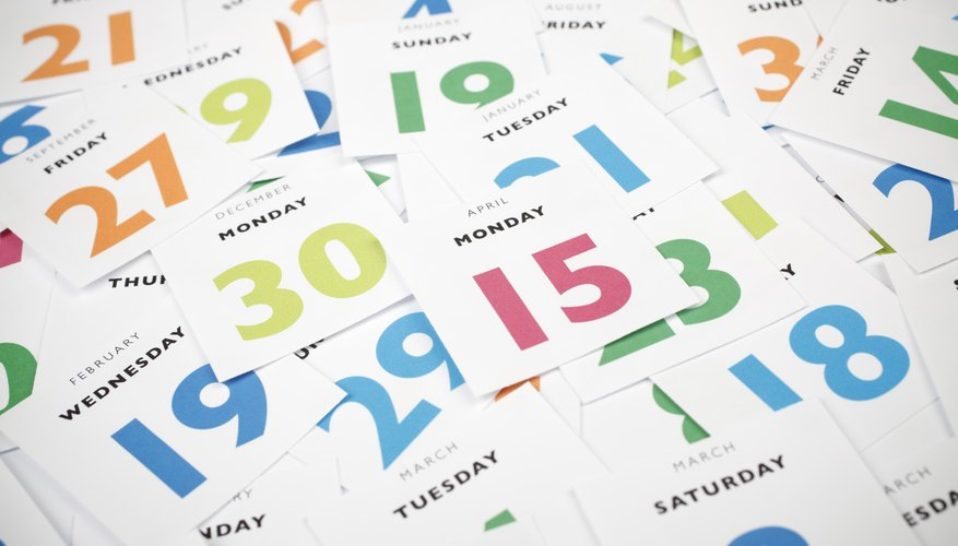 The known, fixed number of days in a month helps in calculating your birth weekday.