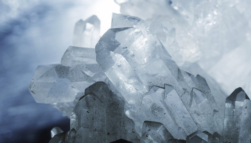 Quartz crystals are often used as semi-precious gems.