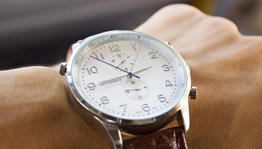 A man is wearing a luxury watch.
