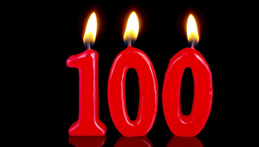 Anniversary Birthday Candles Nr 100