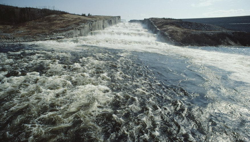 Hydroelectric power is derived from moving water.