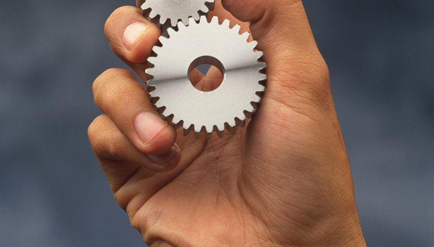 The speed ratio of two gears depends on the number of teeth each gear has.