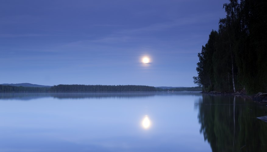 The moon's gravity helps create Earth's tides.