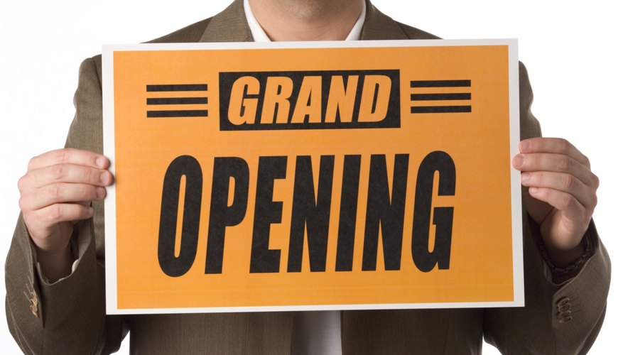 Grand openings can help make or break a business.