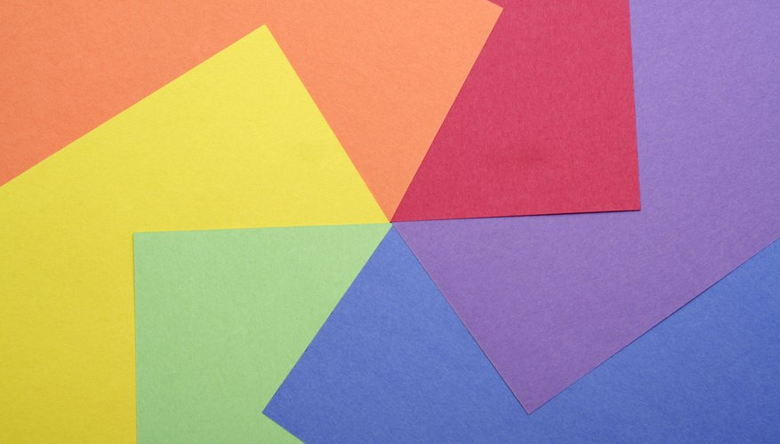 An assortment of different colored construction paper